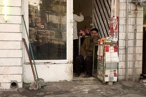 Cigarette seller in Tehran